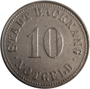10 pfennig (Backnang) – avers