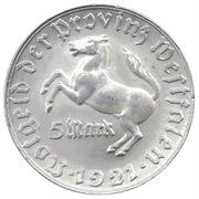 5 Mark (Westfalen; Freiherr vom Stein) – avers