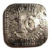 10 Pfennig ( Sachsen Wiemar ) – avers
