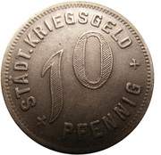 10 pfennig (Kirchheim unter Teck) – revers