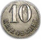 10 pfennig (Swinemünde) – revers
