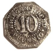10 pfennig (Schwarzburg-Sondershausen) – revers