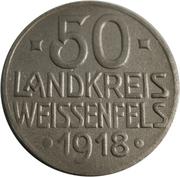 50 pfennig (Weißenfels) – revers