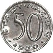 50 Pfennig (Aachen) [Stadt, Rheinprovinz] – avers