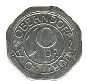 10 pfennig (Oberndorf) – avers