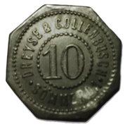 10 Pfennig (Sömmerda) [Private, Sachsen, Dreyse & Collenbusch] – avers