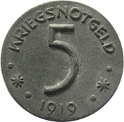 5 Pfennig (Hersfeld) [Stadt, Hessen-Nassau] – revers