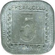 5 Pfennig (Ludwigshafen am Rhein) [Private, BASF] – revers