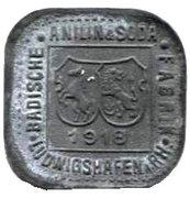 1 Pfennig (ludwigshafen) – avers