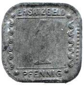 1 Pfennig (ludwigshafen) – revers