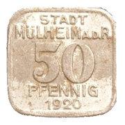 50 Pfennig (Mülheim an der Ruhr) – avers
