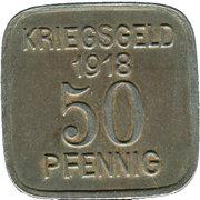 50 Pfennig (Sprottau) [Stadt, Schlesien] – revers