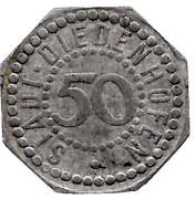 50 pfennig Stadt Diedenhofen – avers