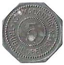5 Pfennig - Kommandantur Trüb pl - Oberhoffen [67] – avers