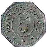 5 Pfennig - Kommandantur Trüb pl - Oberhoffen [67] – revers