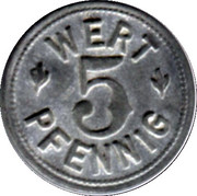 5 Wert Pfennig - Backer-Innung - Colmar [68] – revers