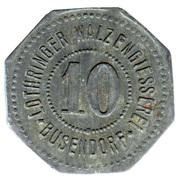 10 Pfennig (Busendorf) [Private, Lothringen, Lothringer Walzengiesserei] – avers