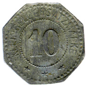 10 Pfennig (Busendorf) [Private, Lothringen, Lothringer Walzengiesserei] – revers