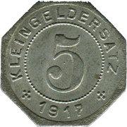5 Pfennig (Tübingen) [Stadt, Württemberg] – revers