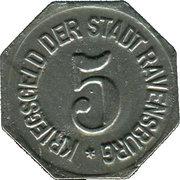 5 Pfennig (Ravensburg) [Oberamtsstadt, Württemberg] – revers