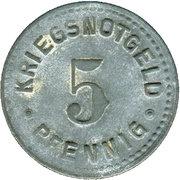 5 Pfennig (Trossingen) [Gemeinde, Württemberg] – revers
