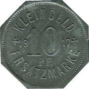 10 Pfennig (Hall [Schwäbisch-]) [Stadt, Württemberg] – revers