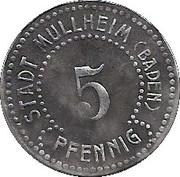5 Pfennig (Müllheim) [Stadt, Baden] – avers