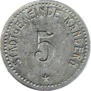 5 Pfennig (Kandern) [Stadt, Baden] – avers