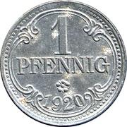 1 Pfennig (Frankenthal) [Stadt, Pfalz] – avers
