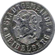 50 Pfennige (Heidelberg)[Stadt, Baden] -  avers