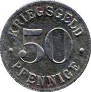 50 Pfennige (Heidelberg)[Stadt, Baden] -  revers