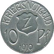 10 Pfennig (Wolfach) [Amtsbezirk, Baden] – revers
