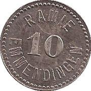 10 Pfennig (Emmendingen) [Private, Baden, Spinnerei Ramie] – avers