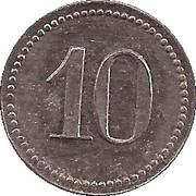 10 Pfennig (Emmendingen) [Private, Baden, Spinnerei Ramie] – revers