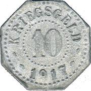 10 pfennig - Donauschingen – revers
