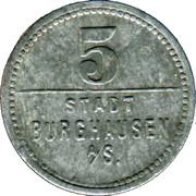 5 Pfennig (Burghausen an der Salzach) [Stadt, Bayern] – avers