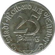 25 Pfennig (Rothenburg ob der Tauber) [Stadt, Bayern] – avers