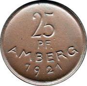 Amberg, Germany 1921 25 pfennig – avers