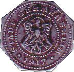 50 pfennig (Germersheim) 1917 – avers