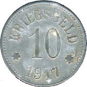 10 Pfennig (Pfaffenhofen am Ilm) [Stadt, Bayern] – revers