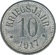 10 Pfennig (Rehau) [Stadt, Bayern] – revers