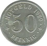 50 Pfennig (Treuchtlingen) [Stadt, Bayern] – revers