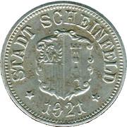 50 pfennig SCHEINFELD – avers