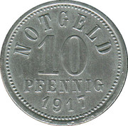 10 Pfennig (Kissingen) [Stadt, Bayern] – revers
