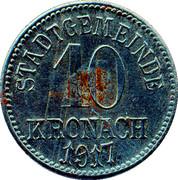 10 Pfennig (Kronach) [Stadt, Bayern] – revers