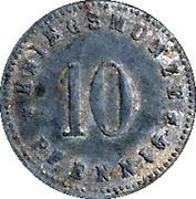 10 Pfennig (Neu-Ulm) – revers