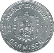 50 Pfennig (Garmisch) [Marktgemeinde, Bayern] – avers