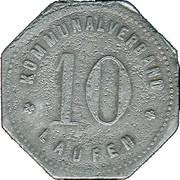 10 Pfennig  (Laufen) [Kommunalverband, Bayern] – avers
