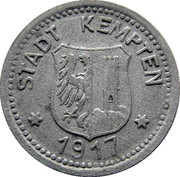 10 pfennig (Kempten) – avers