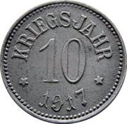 10 pfennig (Hassfurt) – revers